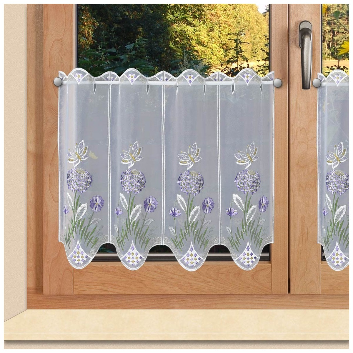 scheibengardinen panneau hyazinthe flieder plauener spitze. Black Bedroom Furniture Sets. Home Design Ideas