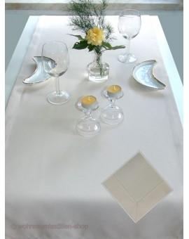 Tischläufer Lavina Beige 50 x 140 cm