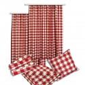 Tischläufer Landhaus-Tischdecke Karo in Rot 40 x 160 cm rot-weiß kariert Hirschmotiv