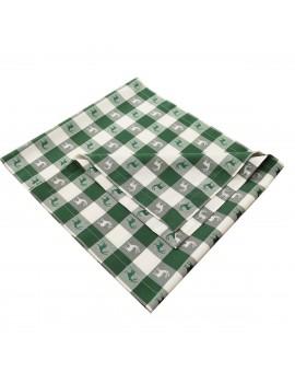 Tischläufer Landhaus-Tischdecke Karo in Grün 40 x 160 cm rot-weiß kariert Hirschmotiv