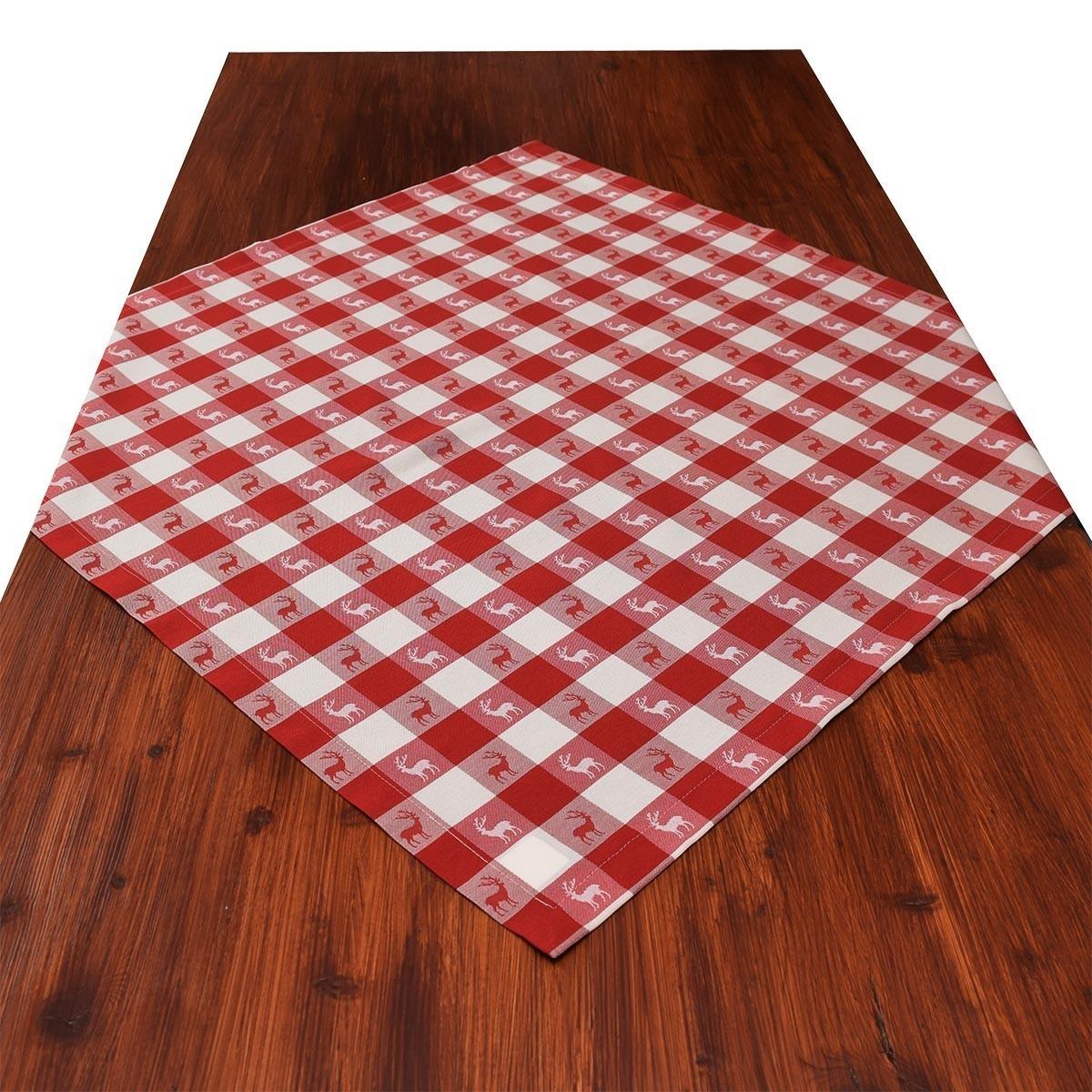 mitteldecke landhaus tischdecke karo in rot 82 x 82 cm rot. Black Bedroom Furniture Sets. Home Design Ideas