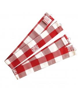 """Raffhalter """"Karo mit Edelweiß"""" rot-weiß 2er-Set passend zur Serie Karo mit Edelweiß in Rot"""