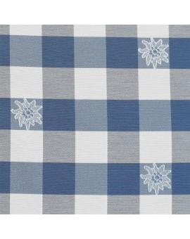 """Raffhalter """"Karo mit Edelweiß"""" blau-weiß 2er-Set passend zur Serie Karo mit Edelweiß in Blau"""