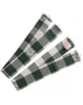 """Raffhalter """"Karo mit Edelweiß"""" grün-weiß 2er-Set passend zur Serie Karo mit Edelweiß in Grün"""