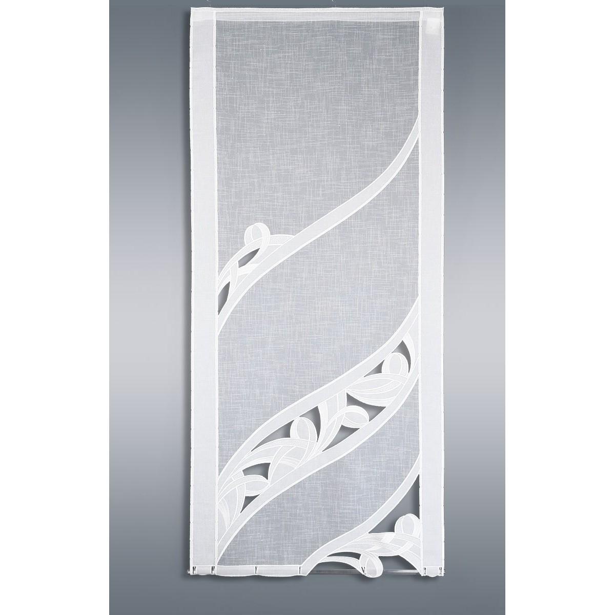 fl chengardine sanja plauener stickerei schiebevorhang weiss. Black Bedroom Furniture Sets. Home Design Ideas