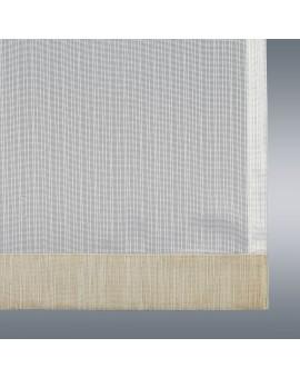 Flächengardine Wohnwagenstore Maite sekt-beige Caravan-Gardine Detailansicht