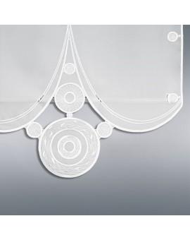 """Flächengardine """"Circle"""" Plauener Stickerei Schiebevorhang weiss"""