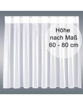 Wohnwagen-Caravan-Store ANNA weiß Flachfaltenband Zinkband Höhe 60-80cm nach Maß