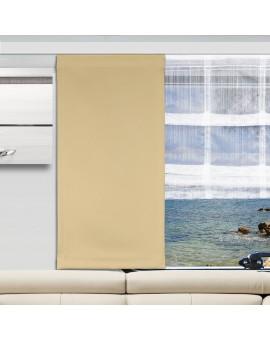 Flächengardine Mattis beige uni Wohnwagen-Vorhang mit Raffrollo