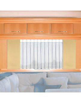 Flächengardine Mattis beige uni Wohnwagen-Vorhang mit Caravan-Store