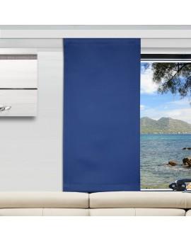 Flächengardine Mattis blau uni Wohnwagen-Vorhang
