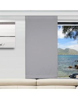 Flächengardine Mattis grau uni Wohnwagen-Vorhang