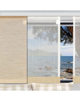 Flächengardine Wohnwagenstore Maite sekt-beige Caravan-Gardine am Fenster