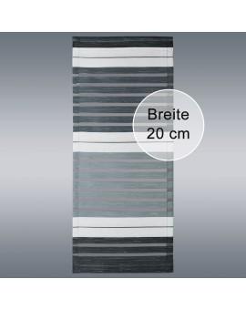 """Flächengardine """"Aiko"""" grau gestreift für Caravan Wohnwagenvorhang Beispiel Breite 20cm"""