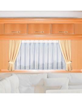 Seitenschal VIGGO rechts Höhe nach Maß beige-sekt für Caravan Wohnmobil mit Store Mailin