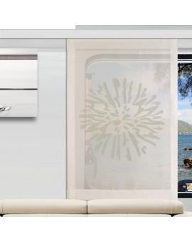 Flächengardine Wohnwagenstore Poesie creme Caravan-Gardine am Fenster