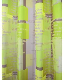 Dekoschal modern Coventry grün Reihband Stoffmuster