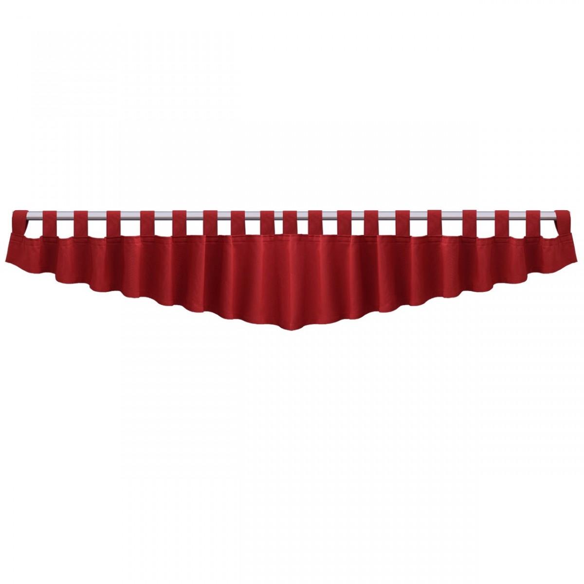 Querbehang Hetty Rot mit Schlaufen Einzeldarstellung