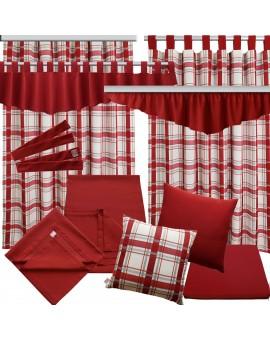 Querbehang Hetty Rot mit Reihband alle passenden Produkte