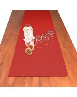 Landhaus-Tischdecke Hetty Rot uni Dekorationsbeispiel