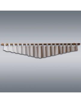 Querbehang Hetty Grau mit Schlaufen Musterbild
