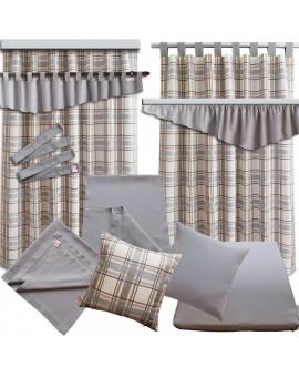 Querbehang Hetty Grau mit Reihband - alle passenden Produkte