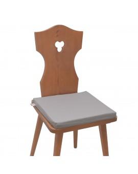 Sitzkissen Hetty Grau uni komplett auf einem Stuhl