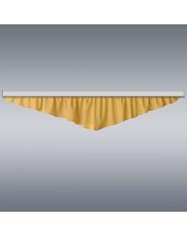 Querbehang Hetty Gelb mit Reihband Musterbild