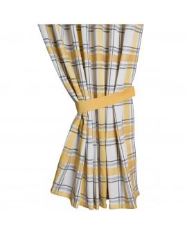 Sitzkissen Hetty Gelb uni komplett Muster mit Schal