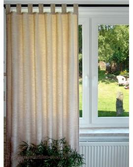 Thermochenille Schlaufenschal Beige mit 7 Schlaufen Vorhang Übergardine