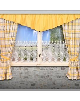2er Set Dekoschal Hetty Gelb kariert Deko am Fenster