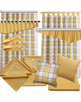 2er Set Dekoschal Hetty Gelb kariert - alle passenden Produkte