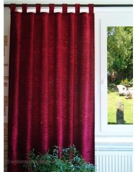 Thermochenille Schlaufenschal Rot mit 7 Schlaufen Vorhang Übergardine