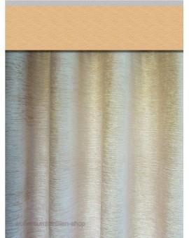 Thermochenille Einzelschal Beige mit Uni-Reihband Vorhang Übergardine