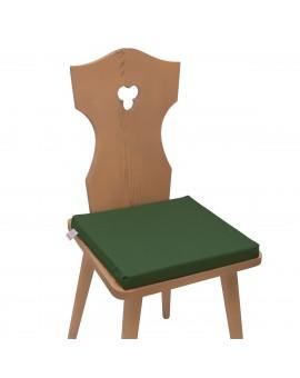 Sitzkissen Hetty Grün uni komplett auf einem Stuhl