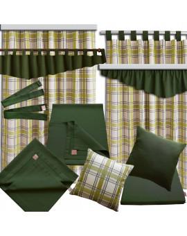 Landhaus-Tischdecke Hetty Grün uni - alle passenden Produkte