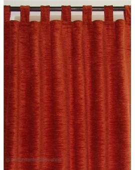 Thermochenille Schlaufenschal Terra mit 7 Schlaufen Vorhang Übergardine