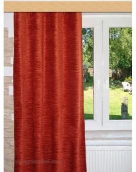 Thermochenille Einzelschal Terra mit Uni-Reihband Vorhang Übergardine