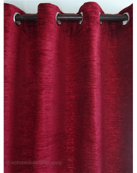 Thermochenille Ösenschal Rot mit 8 Chrom-Ösen Thermo-Vorhang