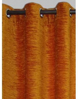 Thermochenille Ösenschal Gold mit 8 Chrom-Ösen Thermo-Vorhang