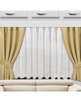 Wohnmobil-Vorhang Mattis beige doppel mit Biella