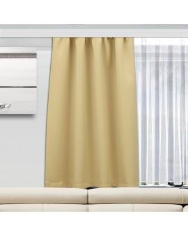 Wohnmobil-Vorhang Mattis beige einzeln mit Store Anna