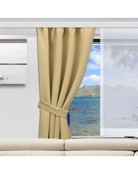 Wohnmobil-Vorhang Mattis beige mit Flächenstore