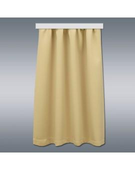 Wohnmobil-Vorhang Mattis beige vor grauem Hintergrund