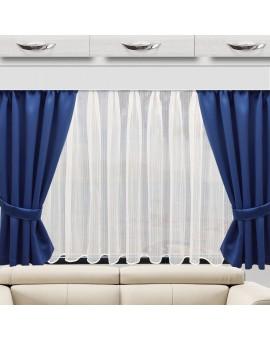 Wohnmobil-Vorhang Mattis blau doppel Biella