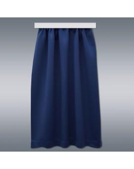 Wohnmobil-Vorhang Mattis blau Hintergrund grau