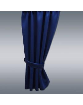 Wohnmobil-Vorhang Mattis blau mit Raffhalter