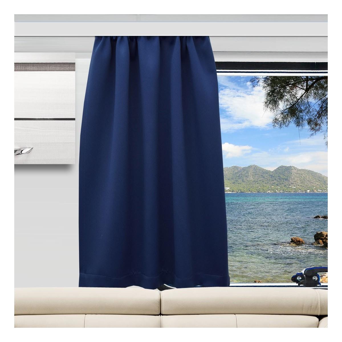 Wohnmobil-Vorhang Mattis blau