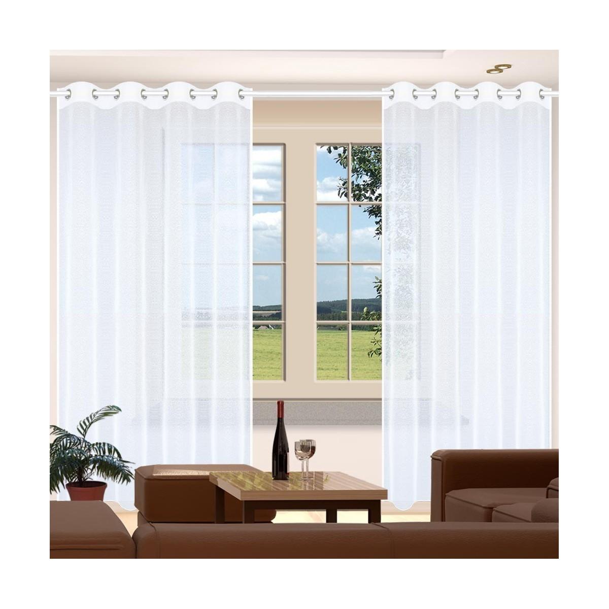 gardinen stores langstore sophie senschal wei. Black Bedroom Furniture Sets. Home Design Ideas
