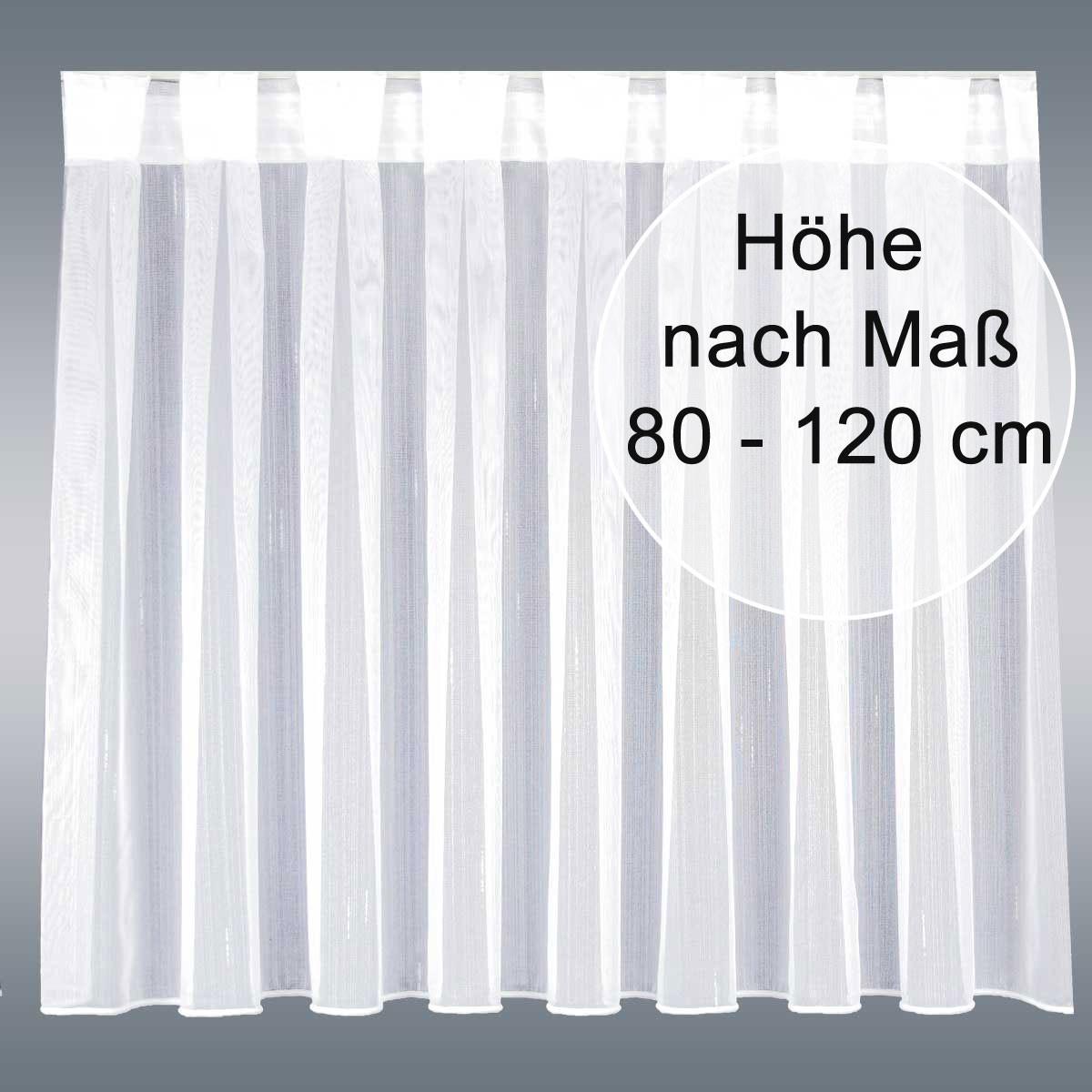 Wohnwagen-Caravan-Store ANNA weiß Flachfaltenband Zinkband Wunschhöhe 80-120cm